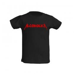AlcoholicA Red Logo T-Shirt Junior's
