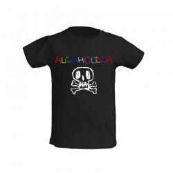 AlcoholicA Baby Logo T-Shirt Junior's