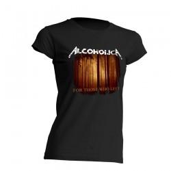AlcoholicA For Those Who Left T-Shirt Womens's