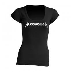 AlcoholicA White Logo T-Shirt Women's